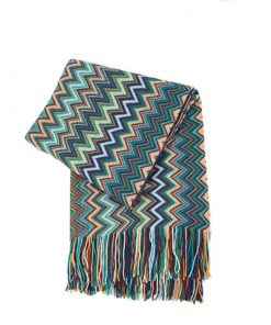 Reversible Knitted Chevron Throw